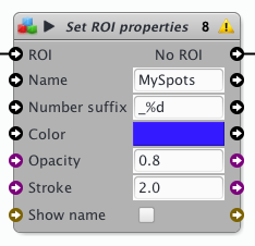 Set Roi properties